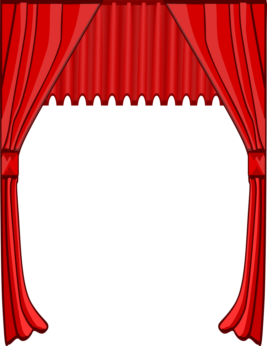Stage Curtain Tall Page Clipart