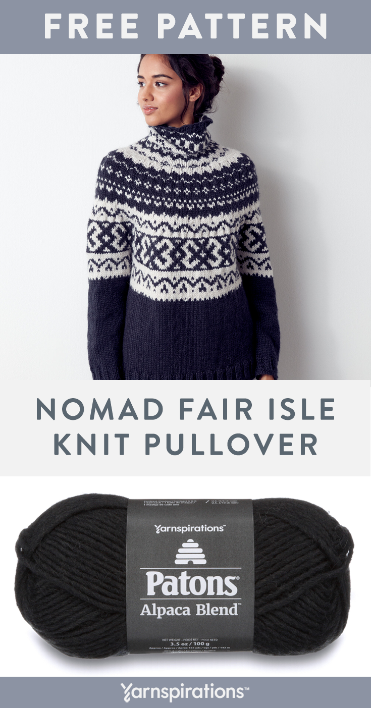 Photo of Patons Nomad Fair Isle Knit Pullover, M/L