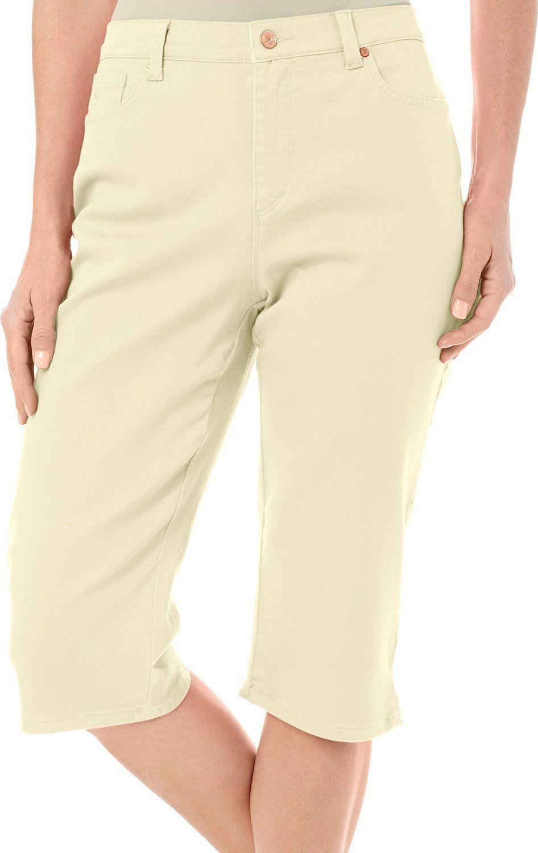 Bad Smart Women's Petite Solid Amanda Twill Capris Pants Dandelion Yellow 12 Petite. 60% Cotton/40% Polyester. Slim Fit. Solid Color. Machine Wash. Tumble Dry.