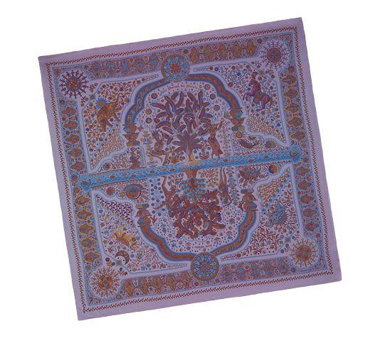 Aux Portes du Palais Silk chiffon shawl, hand-rolled (140 x 140 cm)