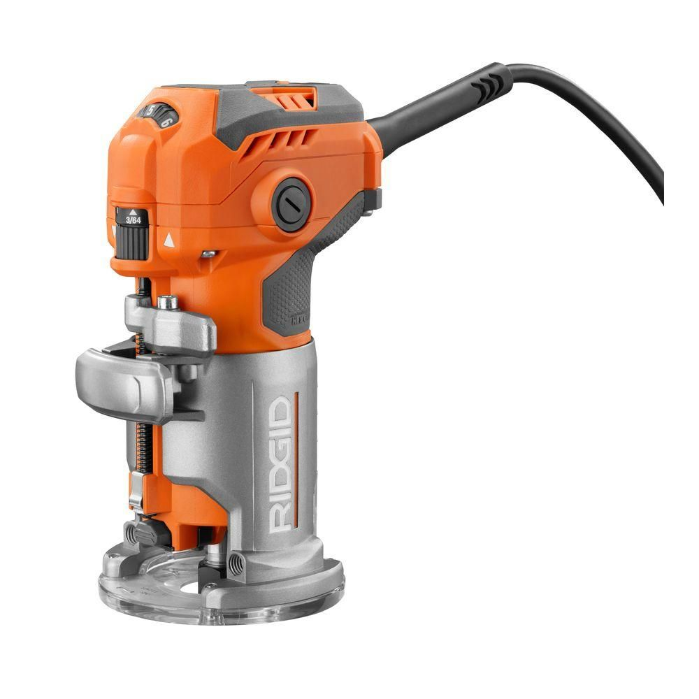 RIDGID 5.5 Amp Corded Compact Router | Ridgid tools, Woodworking ...