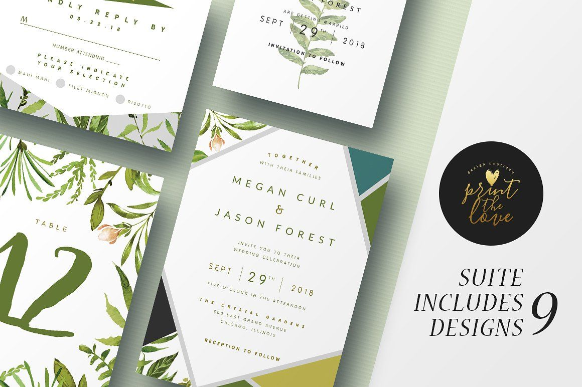 Wedding Invitation Suite - Botanika   Pinterest   Invitation suite ...