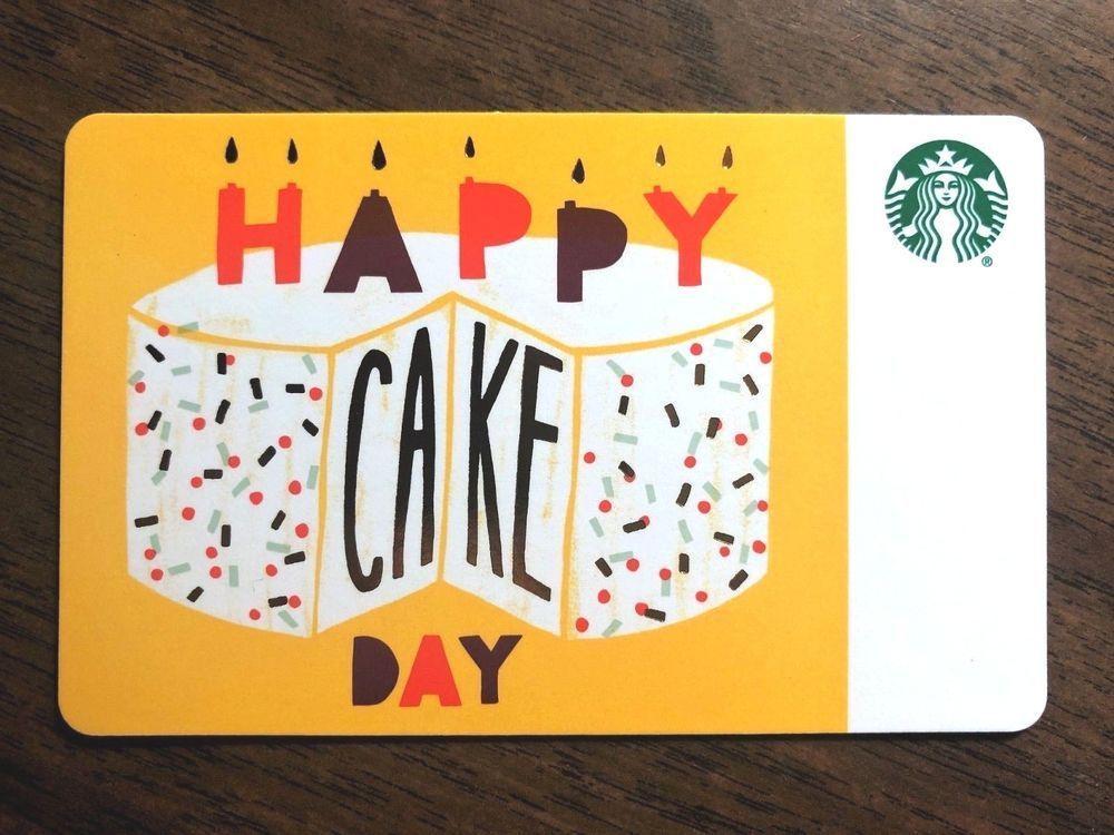 Starbucks Gift Card 2018 HAPPY CAKE DAY Birthday Candles