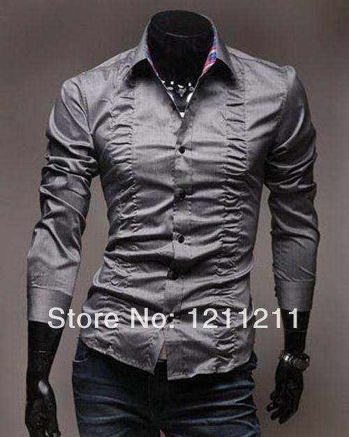 wolf gray men's dress shirt Google Search | Stylish shirts