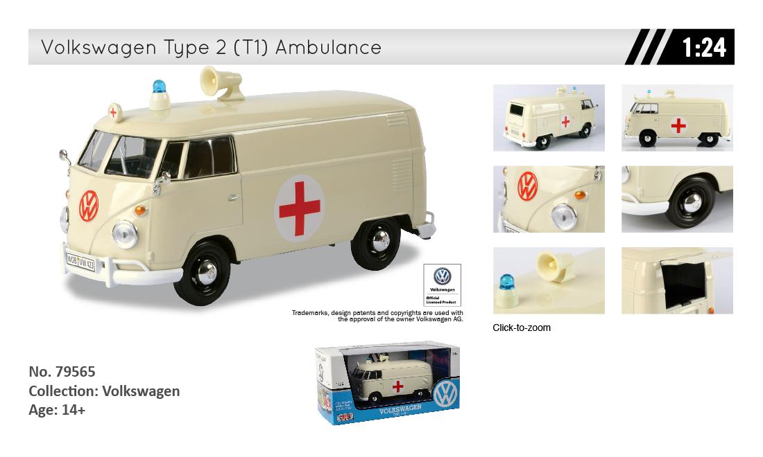 MotorMax Volkswagen Type 2 (T1) Ambulance | Toys