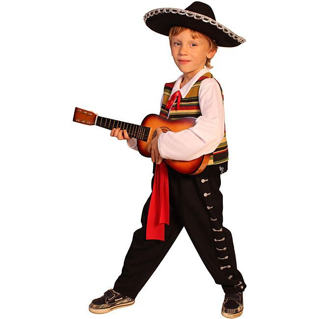 Dress Up America Kid\u0027s Mexican Mariachi Costume Halloween Costume