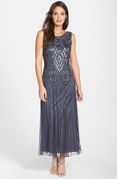 5ccb9f1be1e Pisarro Nights Sleeveless Embellished Mesh Gown (Regular   Petite) available  at  Nordstrom. Vintage Style 1920s Flapper Dresses for Sale Mother Of Groom  ...