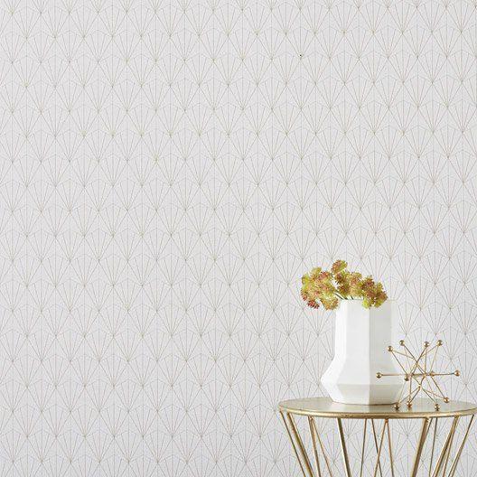 Papier Peint Intisse Geo D Blanc Leroy Merlin Idees Deco Maison