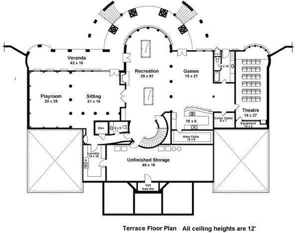 Plan 12225JL Majestic Double Staircase house plans Pinterest