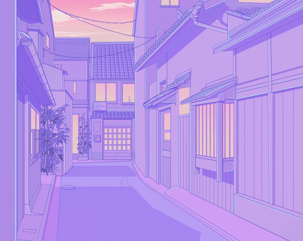 Light Purple Background Anime