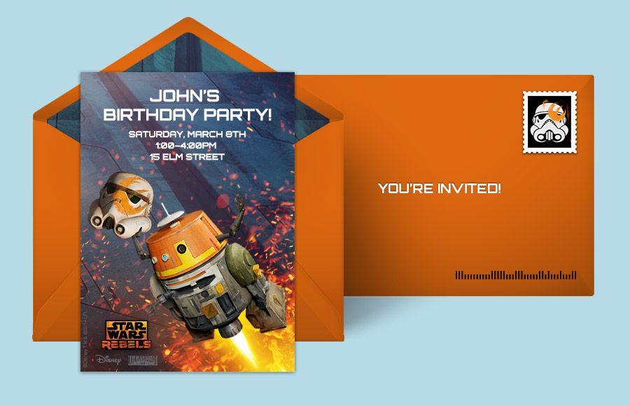 Star Wars Online Invitations Aiden S Star Wars Party