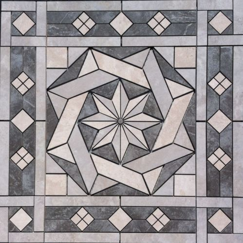 36-1-16-034-Tile-Medallion-inlay-Daltile-Affinity-amp-Continental-Slate-tile-series