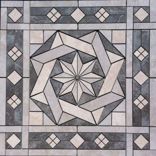 36-1-16-034-Tile-Medallion-inlay-Daltile-Affinity-amp-Continental-Slate-tile-series