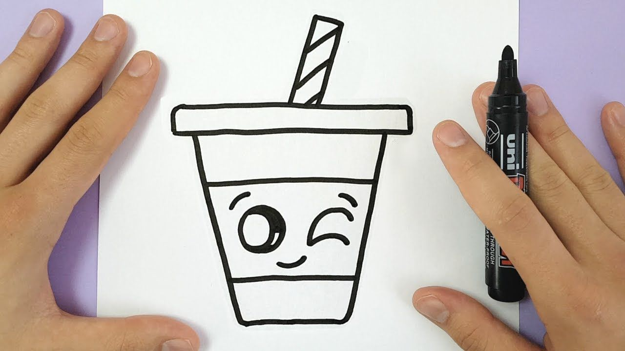 How To Draw A Cute Drink Super Easy And Kawaii Youtube в