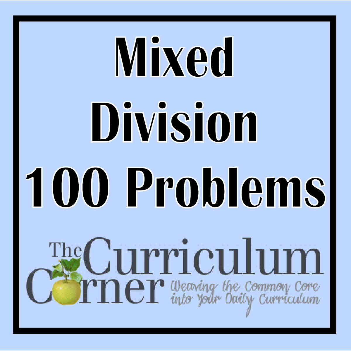 Mixed Division 100 Problems | Division, Math and Curriculum
