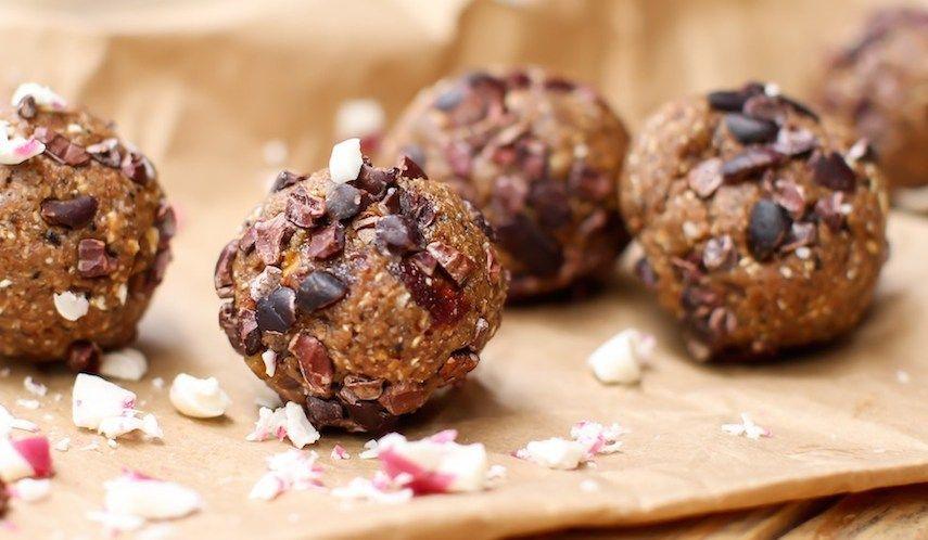 Peppermint Mocha Date Balls - KrisCarr.com