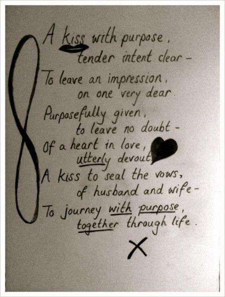Poem A Kiss With Purpose Http Www Catchingthemagic Com 2012 05 Lyrical Su 13th Wedding Anniversary Gift Wedding Anniversary Gifts Anniversary Gift For Her