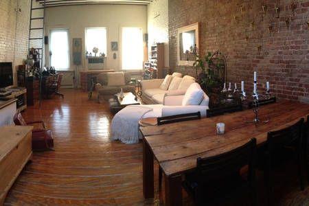 Tribeca Soho 2 Story Loft In New York Lofts For Rent Living Dining Room Manhattan Loft