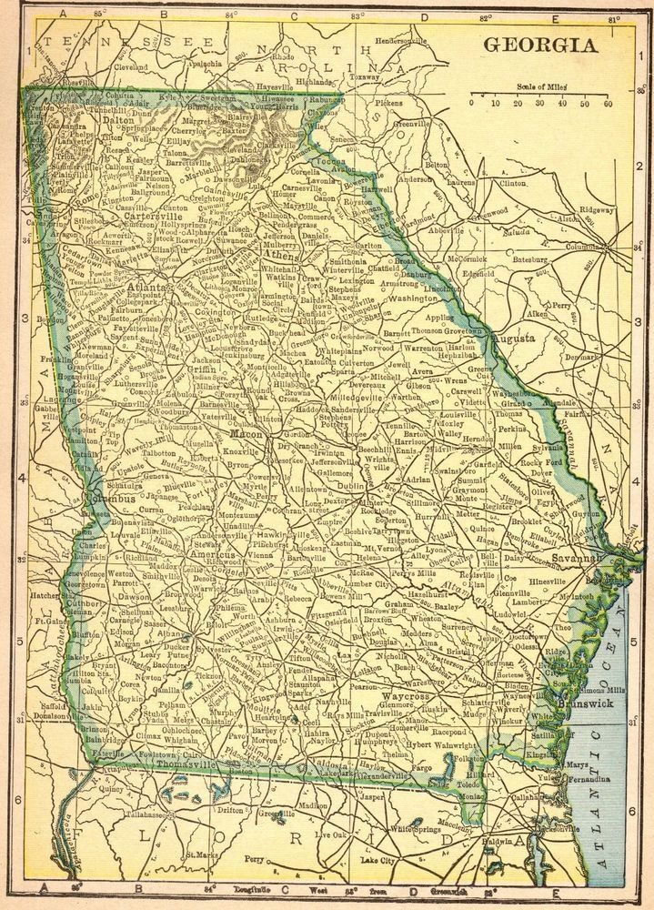 Map Of Georgia Vermont.Pin By Sarah S On Uga Georgia Us Genealogy Map