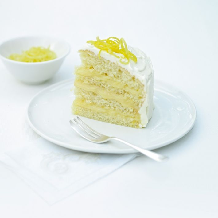 A Picture Of Delia S Iced Lemon Curd Layer Cake Recipe