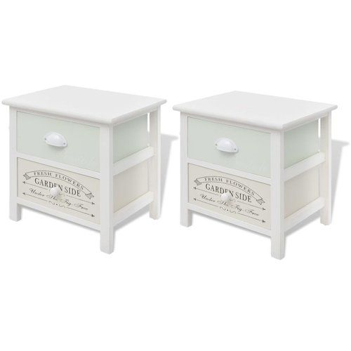Simsbury French 2 Drawer Bedside Table Beachcrest Home