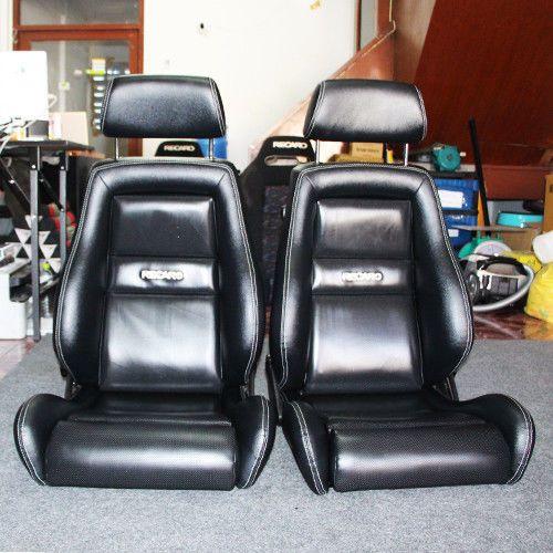 2 Jdm Recaro Lx Leather Seats Solid Headrest Racing Porche Eg Ek Auto Cars 45 Recaro Lujos