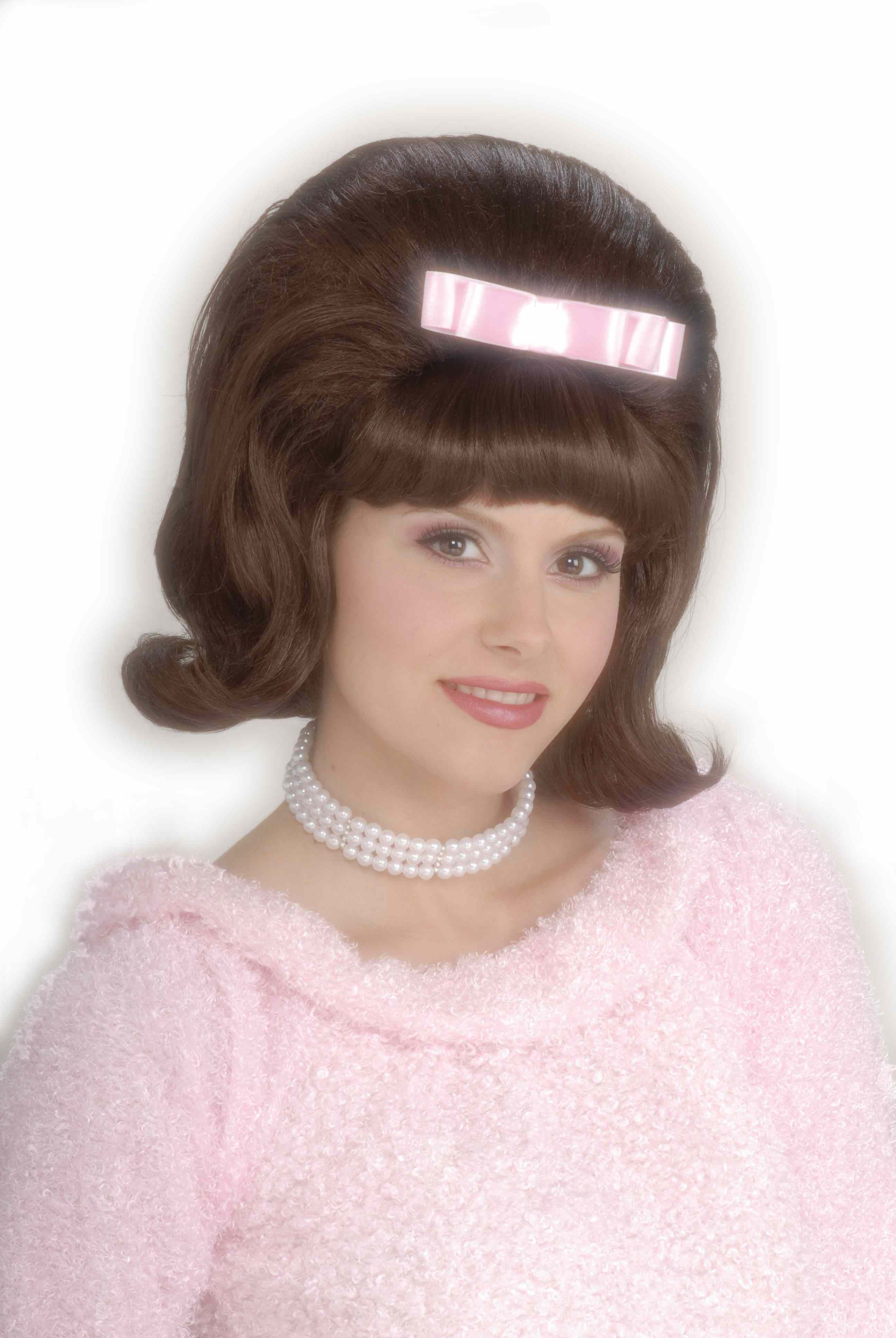 1950 S Hairstyles 1950 S Brown Bouffant Wig The 1950 S