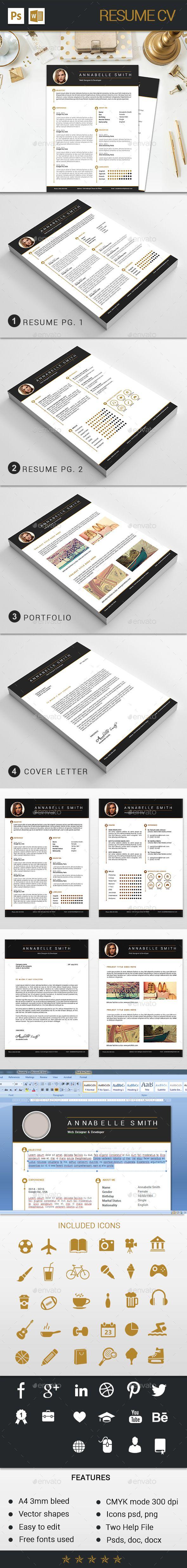 Resume cv | Resume cv, Cv template and Template