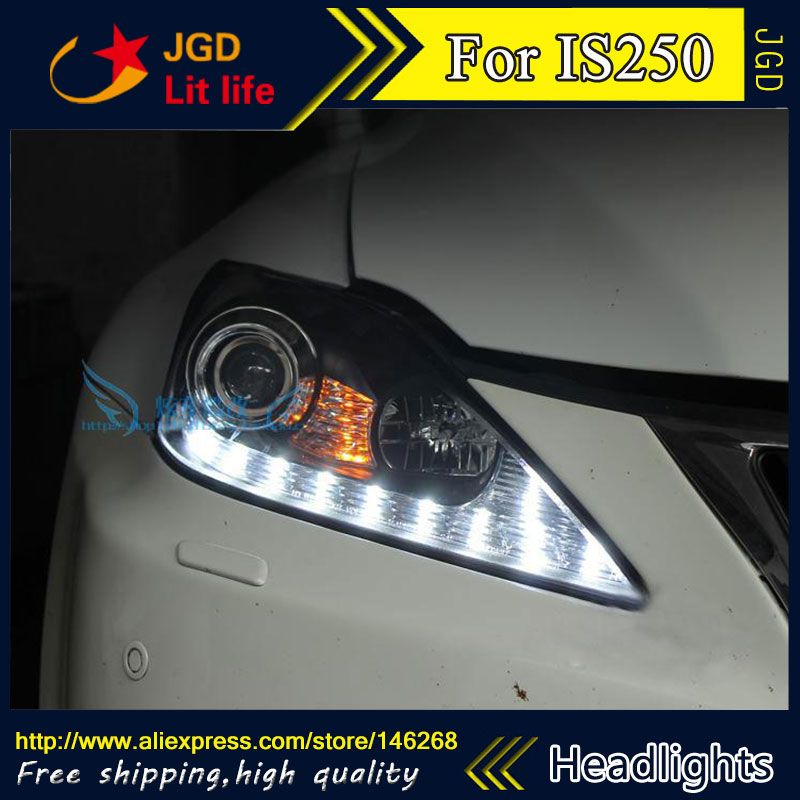 Free Shipping Car Styling Led Hid Rio Led Headlights Head Lamp Case For Lexus Is250 Is300 Bi Xenon Lens Low Beam Led Headlights Lexus Is250 Car Lights