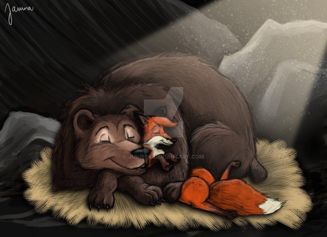 Медведи и лиса картинки