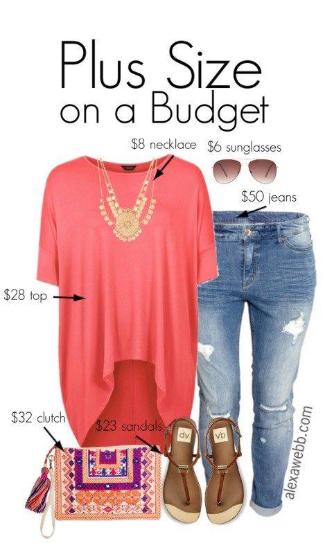 4dd0e90a890 Plus Size Budget Outfit Idea - Plus Size Jeans - Plus Size Fashion for  Women - alexawebb.com  alexawebb