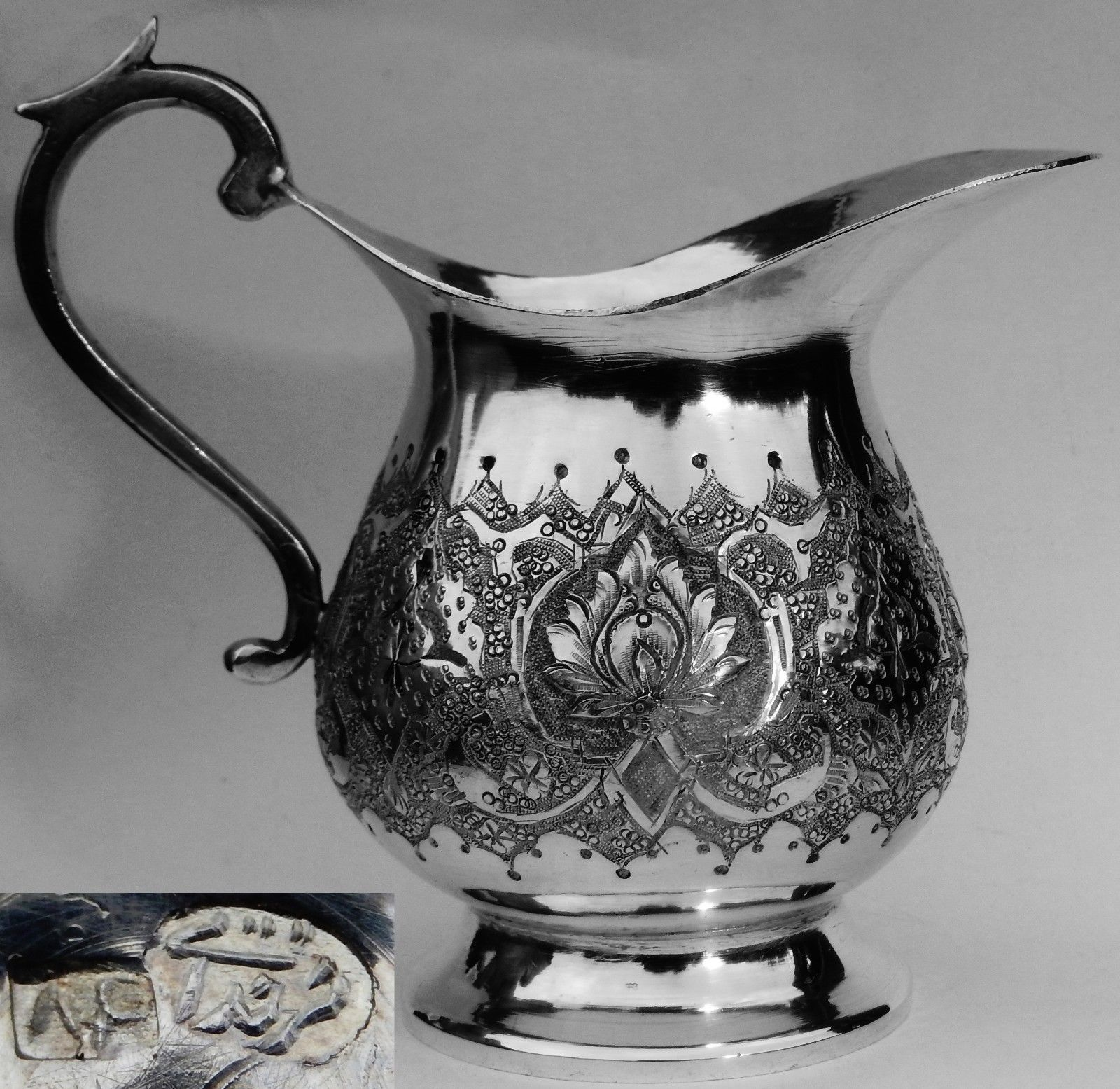 Fine Quality Antique Persian Islamic Solid Silver Jug; Heavy 168g https://t.co/qXUZkBUr2t https://t.co/vH9dCc1aW5
