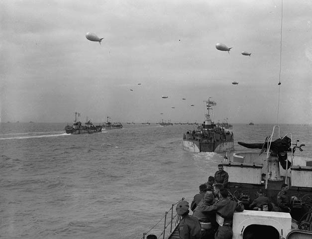 Invasion Craft En Route To France On D Day Photographer Gilbert A Milne World At War D Day War D Day Normandy