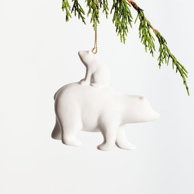 Porcelain Polar Bear Ornament Google Search In 2021 Polar Bear Ornaments Baby Christmas Ornaments Baby Ornaments