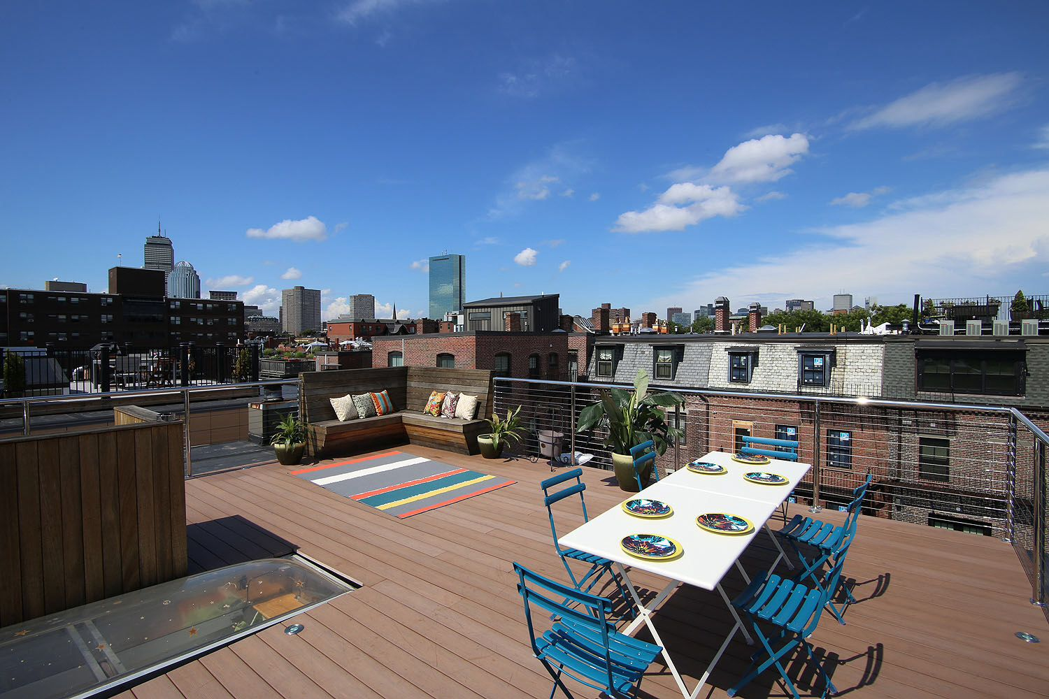 Private Roof Deck In The South End Roof Deck Boston Real Estate Outdoor Furniture Sets
