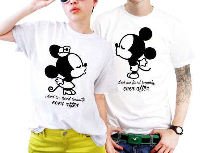 7fde9ed329 And We Lived Happily Ever After Disney Quotes Couples Matching Shirts Set  of 2 http: