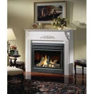 Ventless Gas Fireplace With Mantel Bgd36ntr 37 Zero Clearance