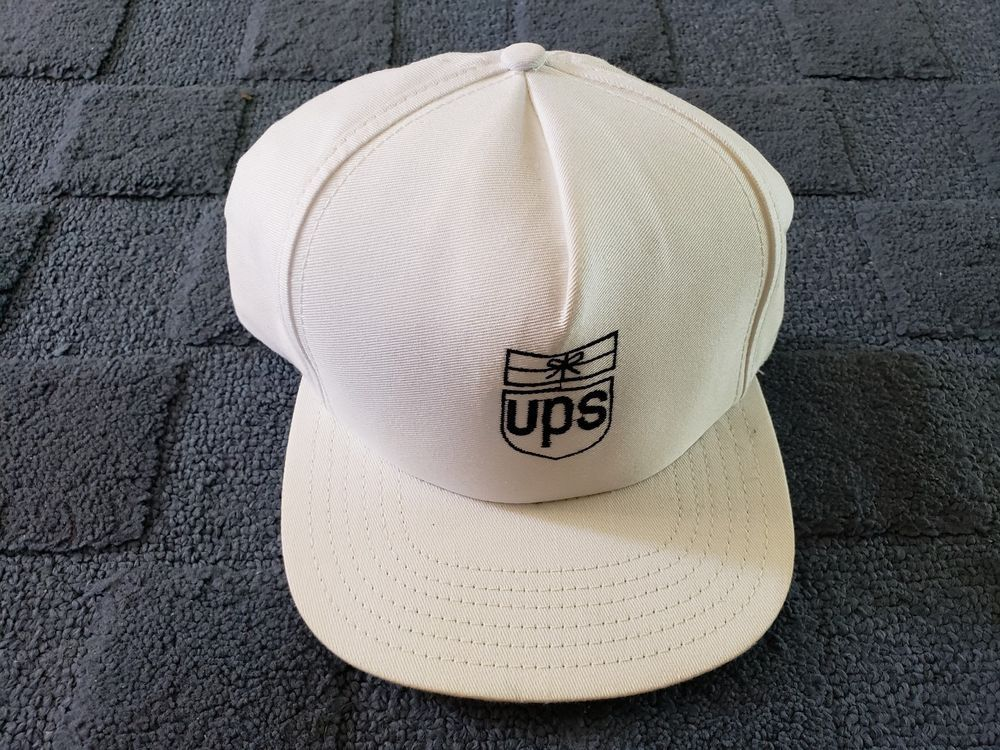 Vintage UPS EMBROIDERED Snapback White Cap Hat Uniform  fashion  clothing   shoes  accessories c8f2b8c0150b
