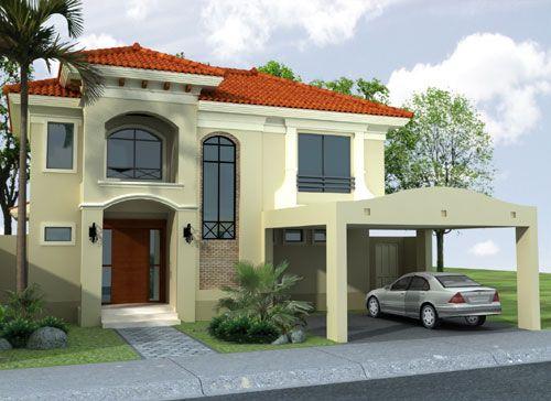 Gama de verde para exteriores fachadas de casas buscar for Modelos de casas exteriores
