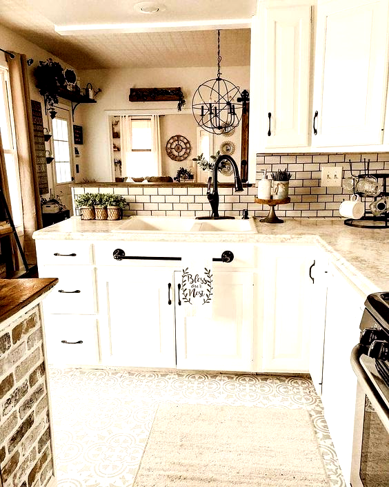 Farmhouseinteriors On Instagram Dont Just Love This Kitchen By Our Nohai Home F Modern Farmhouse Kitchens Farmhouse Kitchen Industrial Farmhouse Kitchen