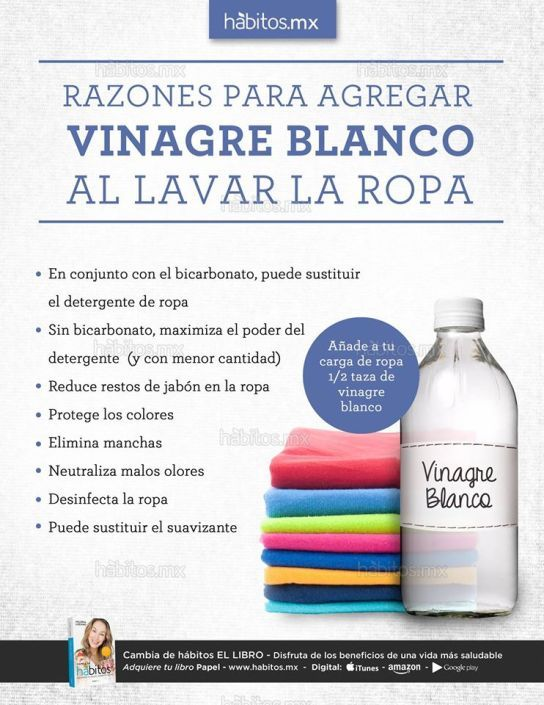 Razones Para A Agregar Vinagre Blanco Al Lavar La Ropa Cleaning Hacks House Cleaning Tips Cleaning