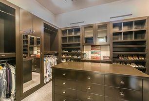 Dark wood looks great in this closet