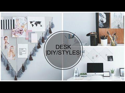 DIY Desk Decor and Styles - YouTube