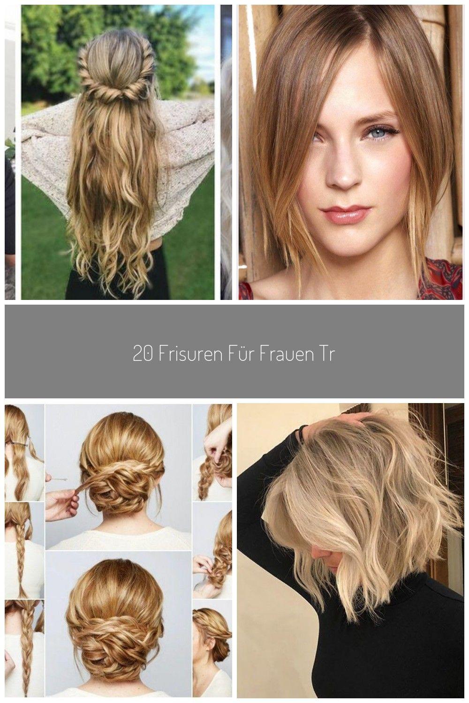 20 Frisuren Fur Frauen Trend Halblang Haare Blond In 2020