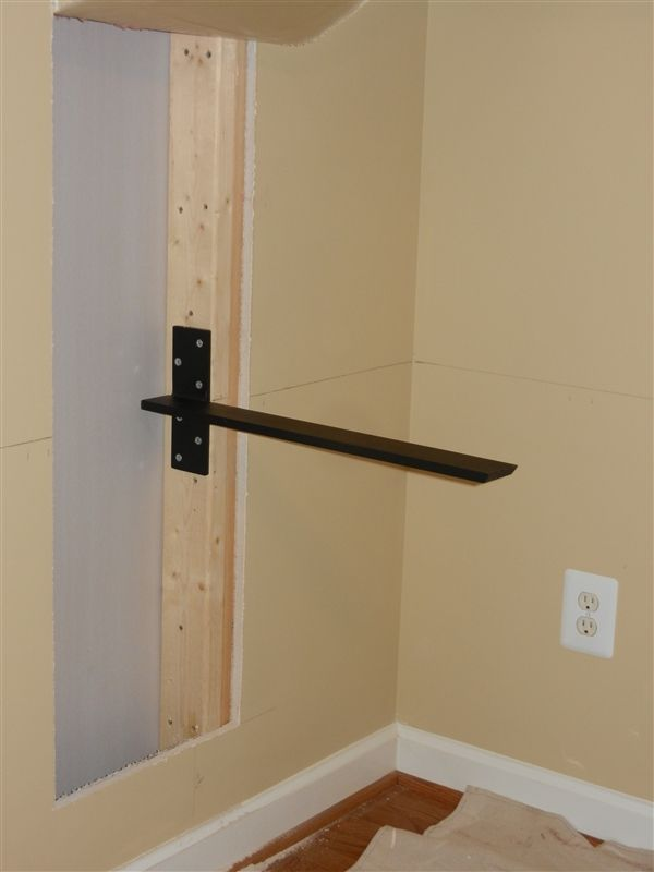 Floating Countertop Support Bracket - Wall Mount - Hidden | Gram ...