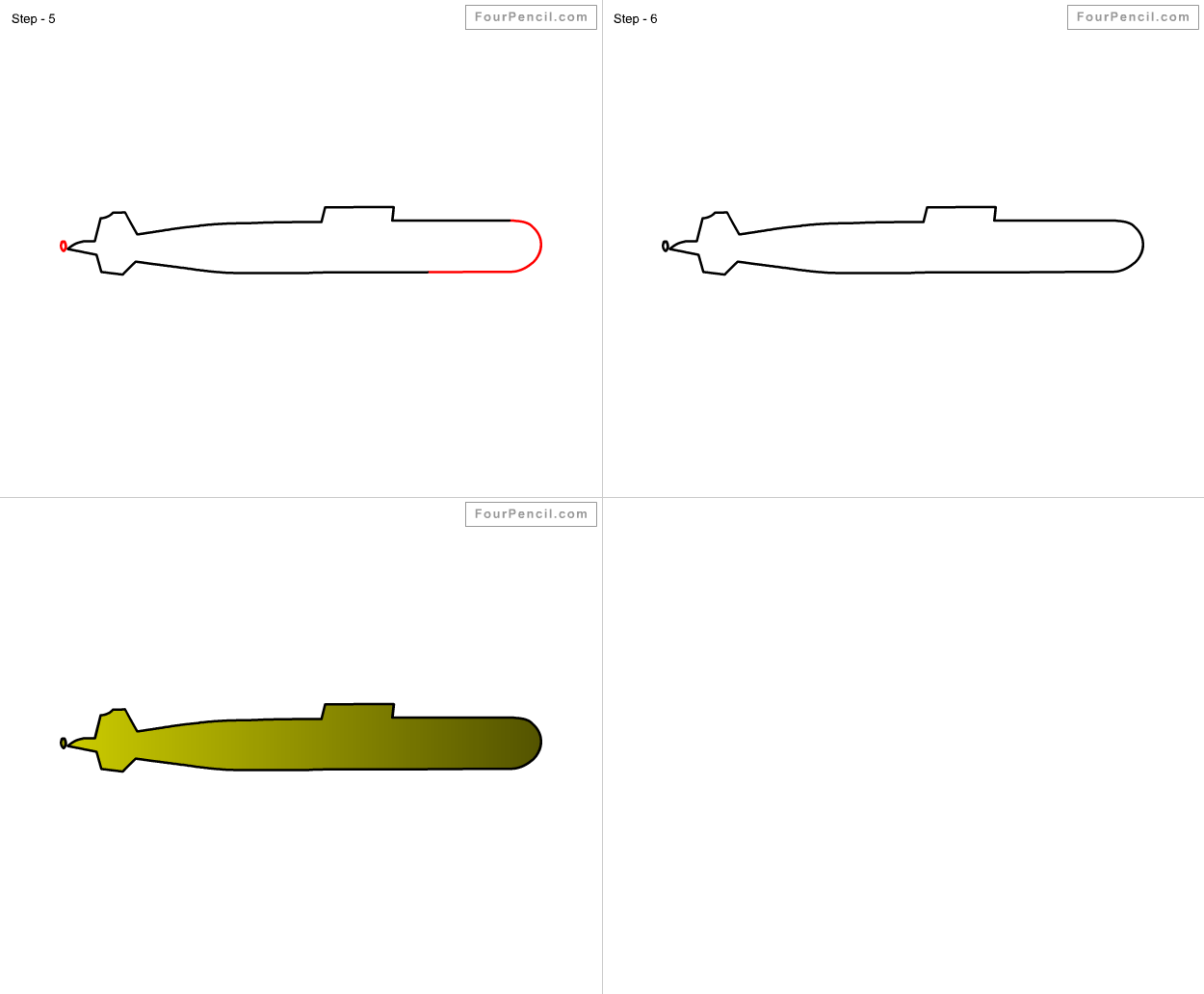 How To Draw Submarine For Kids Step By Step Drawing Tutorial, Draw  Submarine For Kids
