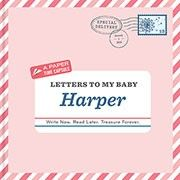Give your baby the greatest gift—letters from you!  Whether you're pregnant or a new parent, fill the twelve letters in this personalized book with memories and hopes for your bundle of joy. Personalize with the child's name, a photo, and a special dedication. A paper time capsule of the first fleeting years, these letters will be an extra-special delivery your child will treasure forever.