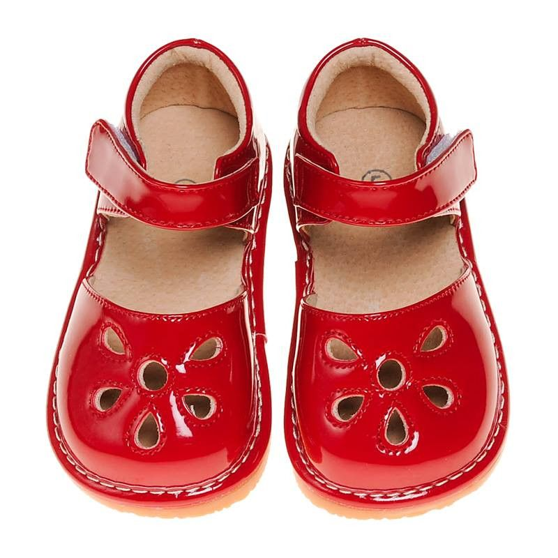 cc44c9b89e129f Pre Order Red Petal Patent Style Squeaky Shoes (June) – Southern Tots