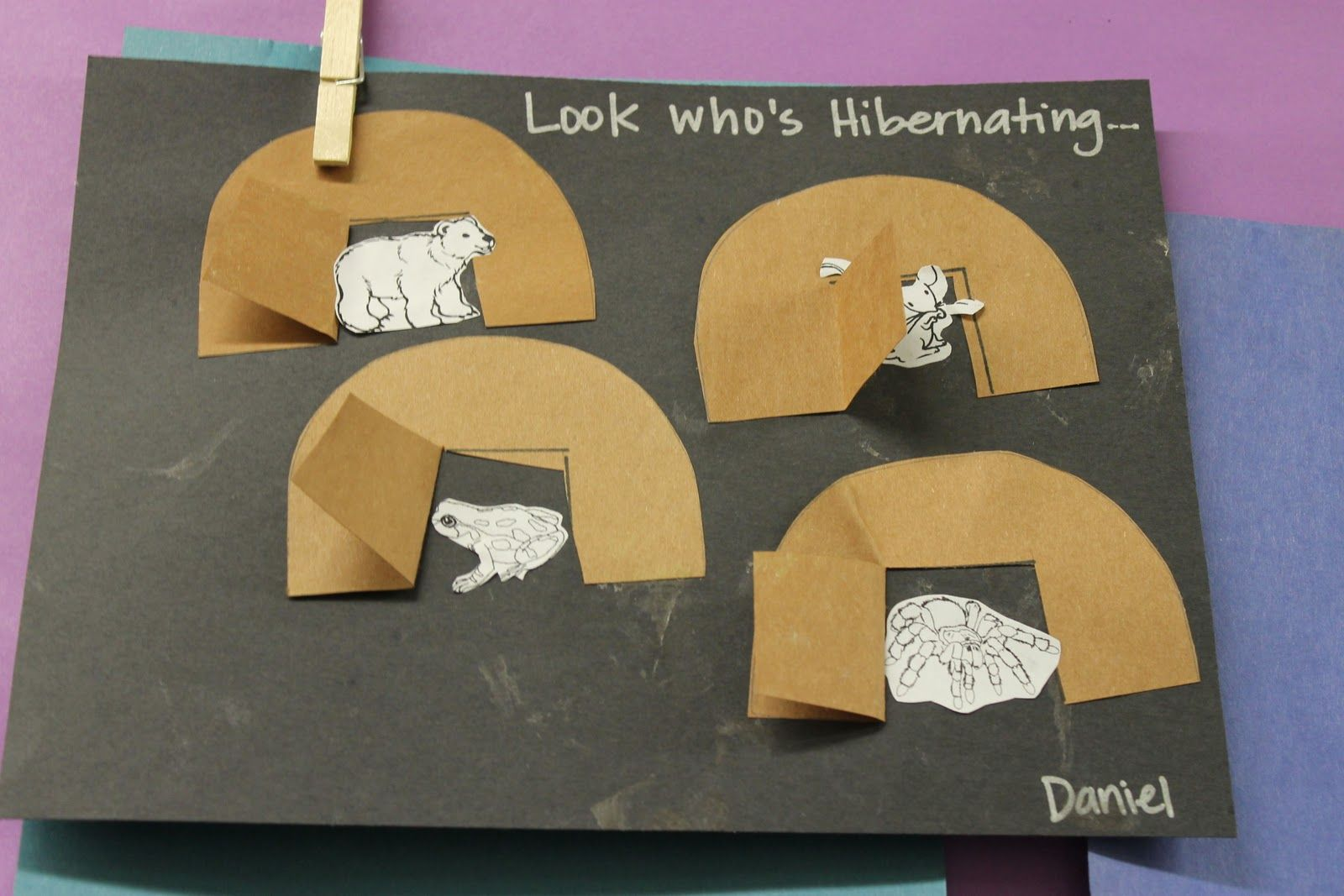 Preschool Hibernation Art