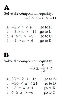 Compound Inequality Review Compound Inequalities Inequality Compounds